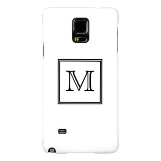 Black and White Monogram Galaxy Note 4 Case