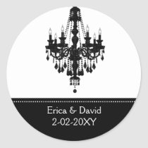 black and white Monogram label