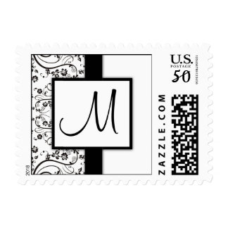 Black and White Monogram Stamps - small size