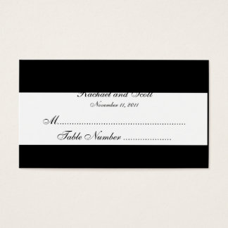 Black and White Monogram Wedding Seating Cards
