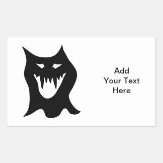 Black and White Monster. Rectangular Sticker