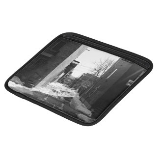 Black and white montreal city alley sleeves for iPads