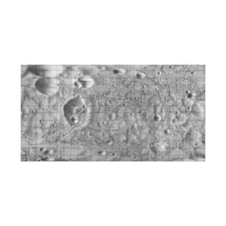 Black and White Moon of Mars Phobos Canvas Print