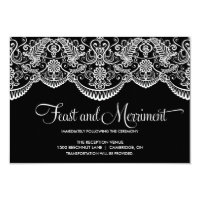 Black and White Moroccan Lace Reception Card (<em>$1.86</em>)
