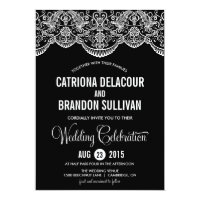 Black and White Moroccan Lace Wedding Invitation (<em>$2.01</em>)