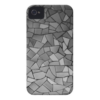 Black and White Mosaic iPhone 4 Case-Mate Cases