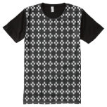 Black-and-White Mosaic of Squares  All over Print All-Over-Print T-Shirt
