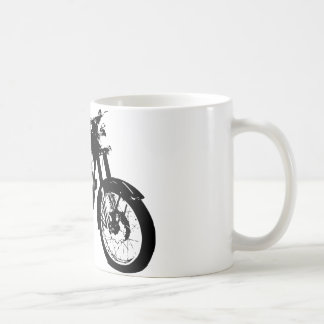Black and White Motorcycle Drawing Coffee Mug