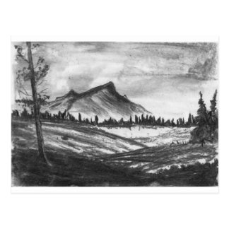 Black and white mountain landscape! postcard