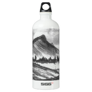 Black and white mountain landscape! SIGG traveler 1.0L water bottle