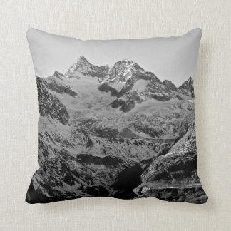 Black and White Mountain Pillow