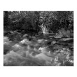"Black and white ""Mountain River"" posters"