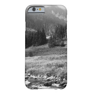 Black and White Mountain Valley and River Barely There iPhone 6 Case