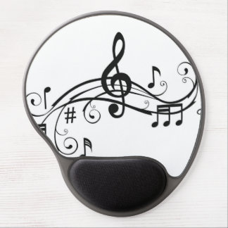 Black and White Mouse Pad with Music Notes