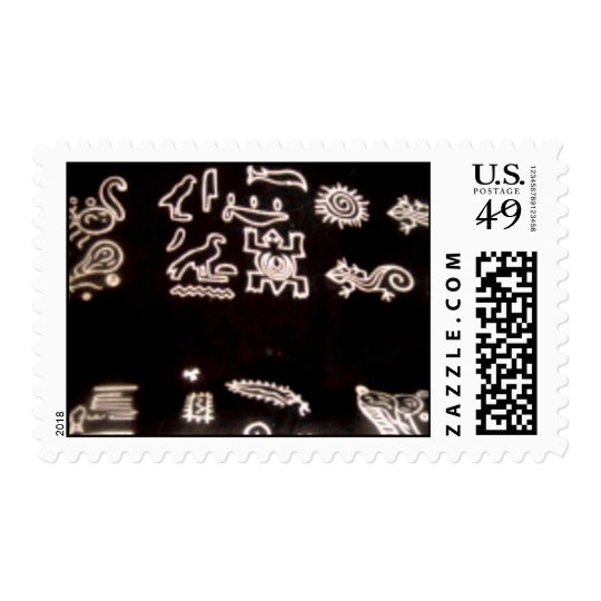 Black and white mud cloth stamp