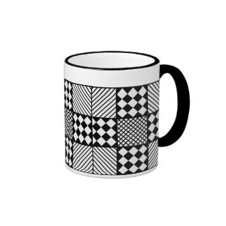 Black and White Multipattern Mug
