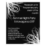 Black and White Music , DJ or Dance Event Flyer