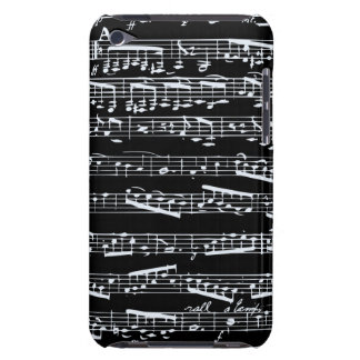 Black and white music notes barely there iPod case
