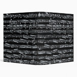 Black and white music notes binder
