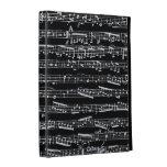 Black and white music notes iPad folio cases