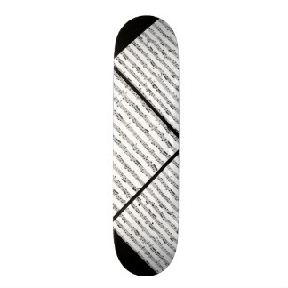 Black and White Music Pattern Customizable Deck 0