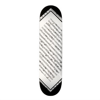 Black and White Music Pattern Customizable Deck 1