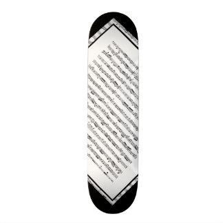 Black and White Music Pattern Customizable Deck 1