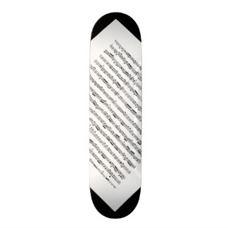Black and White Music Pattern Customizable Deck 2