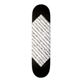 Black and White Music Pattern Customizable Deck 3