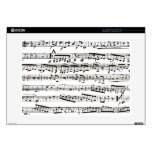 """Black and white musical notes 15"""" laptop skin"""