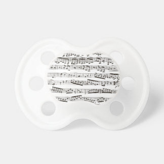 Black and white musical notes BooginHead pacifier