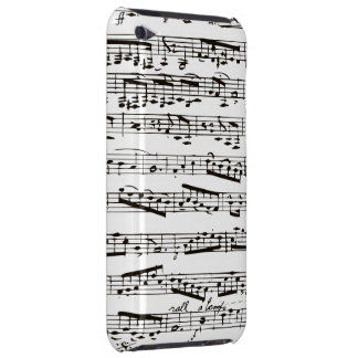 Black and white musical notes iPod touch cases