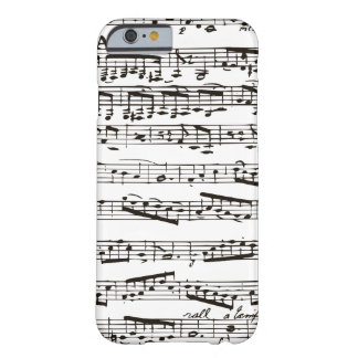 Black and white musical notes iPhone 6 case