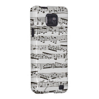 Black and white musical notes samsung galaxy SII covers