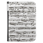 Black and white musical notes kindle keyboard cases