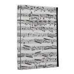 Black and white musical notes iPad cases