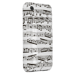 Black and white musical notes iPhone 3 Case-Mate case