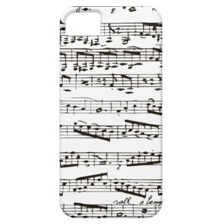 Black and white musical notes iPhone SE/5/5s case