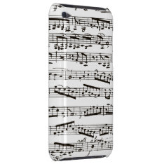 Black And White Musical Notes Ipod Touch Cover at Zazzle