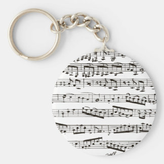 Black and white musical notes keychains