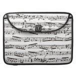 Black and white musical notes MacBook pro sleeves