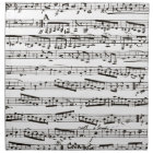 Black and white musical notes napkin