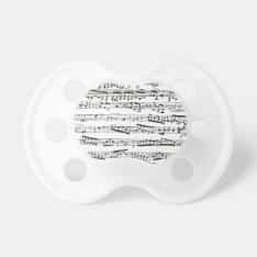 Black And White Musical Notes Pacifier at Zazzle
