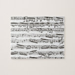 Black and white musical notes puzzles