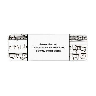 Black and white musical notes (small text) label