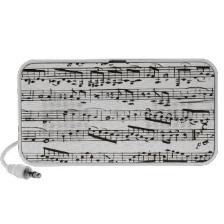 Black and white musical notes PC speakers