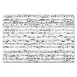 Black And White Musical Notes Tissue Paper at Zazzle