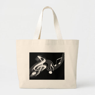 Black and White Musical Scale Bag
