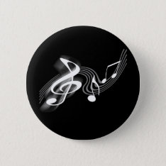 Black And White Musical Scale Button at Zazzle