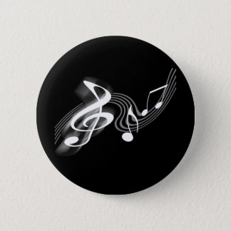 Black and White Musical Scale Button